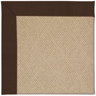 Lisle Machine Tufted Brown/Beige Indoor/Outdoor Area Rug