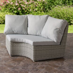 Killingworth Weather Resistant Resin Wicker Patio Corner Chair with Cushions