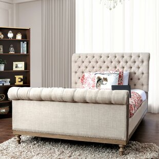 Hiliritas Tufted Upholstered Sleigh Bed by Canora Grey