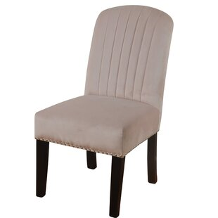 Charlton Home Iacovelli Channel Back Upholstered Dining Chair