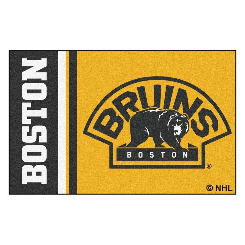 Fanmats Boston Bruins Uniform Starter 30 In X 19 In Non Slip Indoor Only Door Mat Wayfair