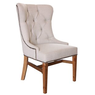Hundt Upholstered Dining Chair with Tufte..