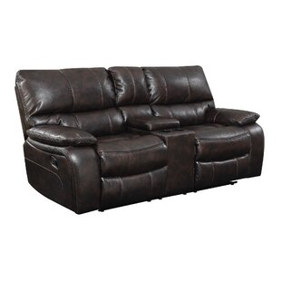 Bomberger Leather Reclining Loveseat