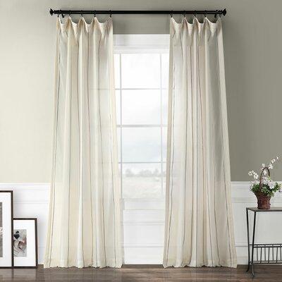 "Half Price Drapes Aruba Striped Sheer Rod Pocket Single Curtain Panel Size per Panel: 50"" W x 108"" L"