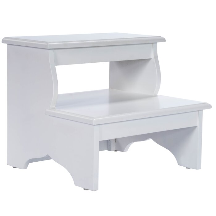 Copley 2 Step Wood Stool With 375 Lb Load Capacity