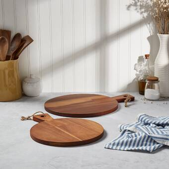 Foundry Select Gagnon Teak Wood Cutting Board Wayfair