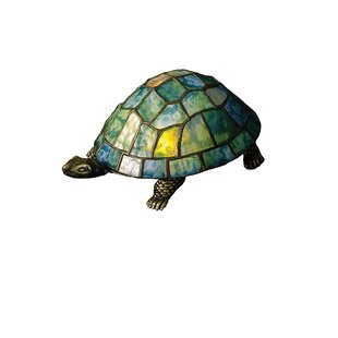 Meyda Tiffany Turtle Tiffany Glass Accent Table Lamp