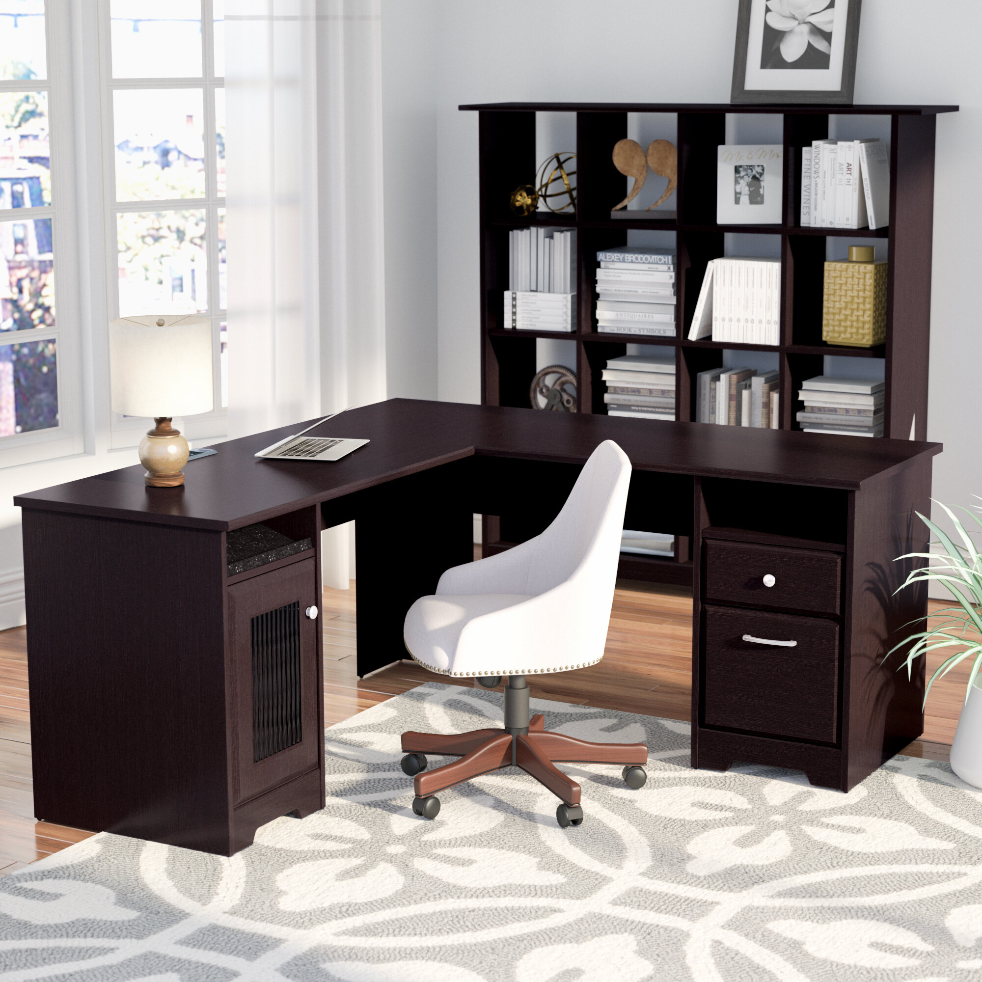 Red Barrel Studio Hillsdale Desk With Bookcase Office Set Reviews