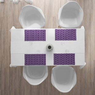 1 Unit Purple Spring Shower Easter Holiday Celebration Celebrate Home Kitchen Intricate Weaved Woven Decor Non-Slip Grip Table Placemats