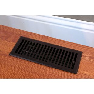 Solid Cast Iron Contemporary Vent Cover In Black