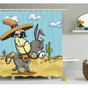 Sombrero Man Single Shower Curtain