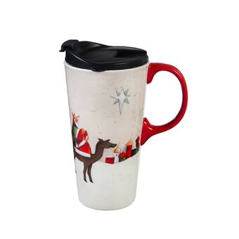 The Holiday Aisle Jorden Peppermint Travel Mug Wayfair