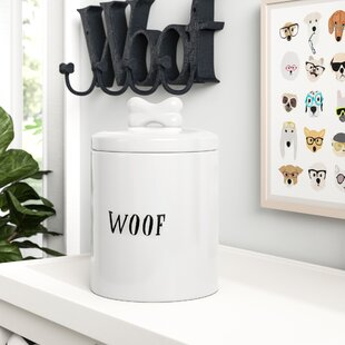 Ceramic Woof Jar with Bone