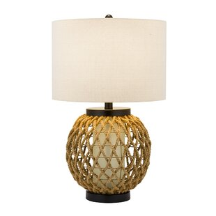 Solt Woven Hemp and Glass 29 Table Lamp