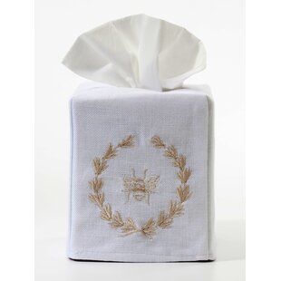 Jacaranda Living Bee Wreath Tissue Box Cover