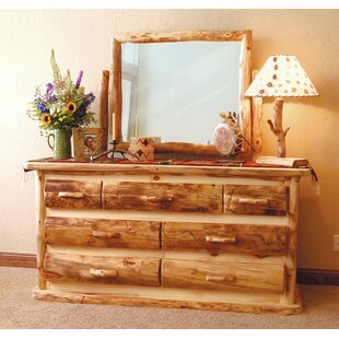 Aspen Heirloom 7 Drawer Double Dresser with Mirror