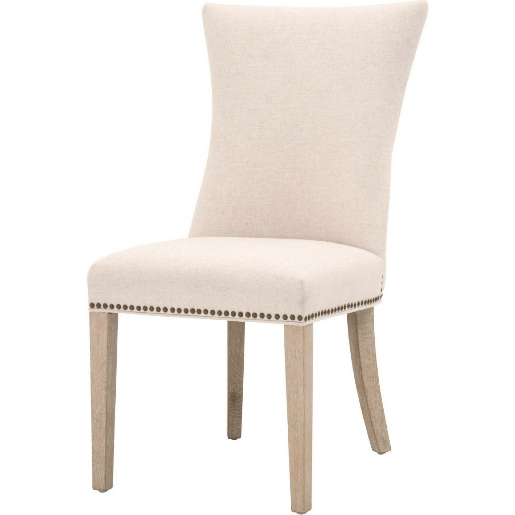Benjara Fabric Side Chair In Beige Wayfair