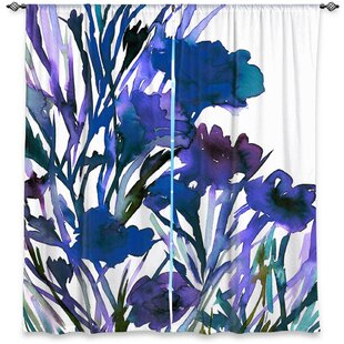 Nature/Floral Room Darkening Rod Pocket Curtain Panels (Set of 2) by DiaNoche Designs