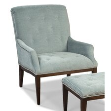 Button Back and Seat Armchair and Ottoman by Fairfield Chair