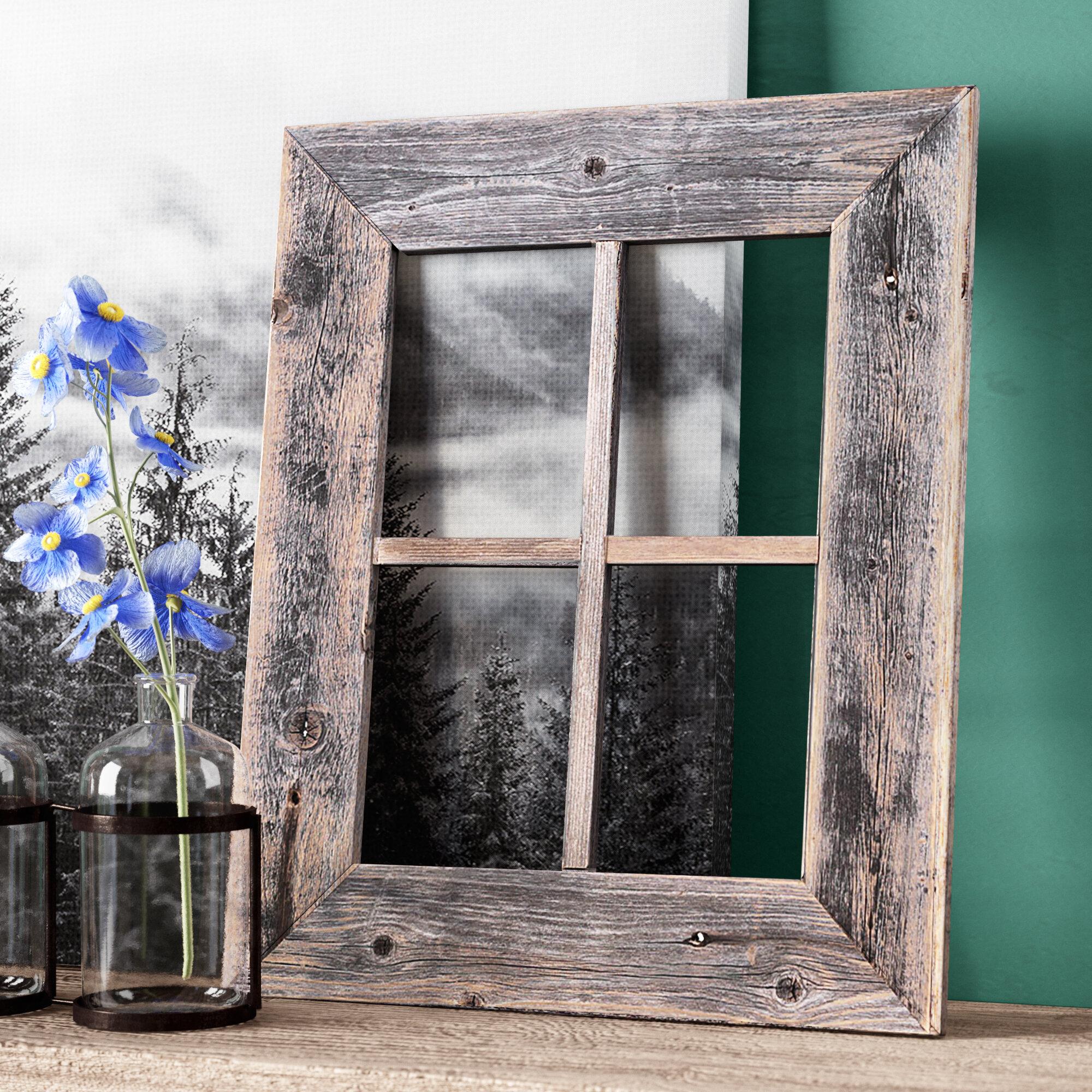 3970e19fad069 Old Rustic Barn Window Frame Wall Décor