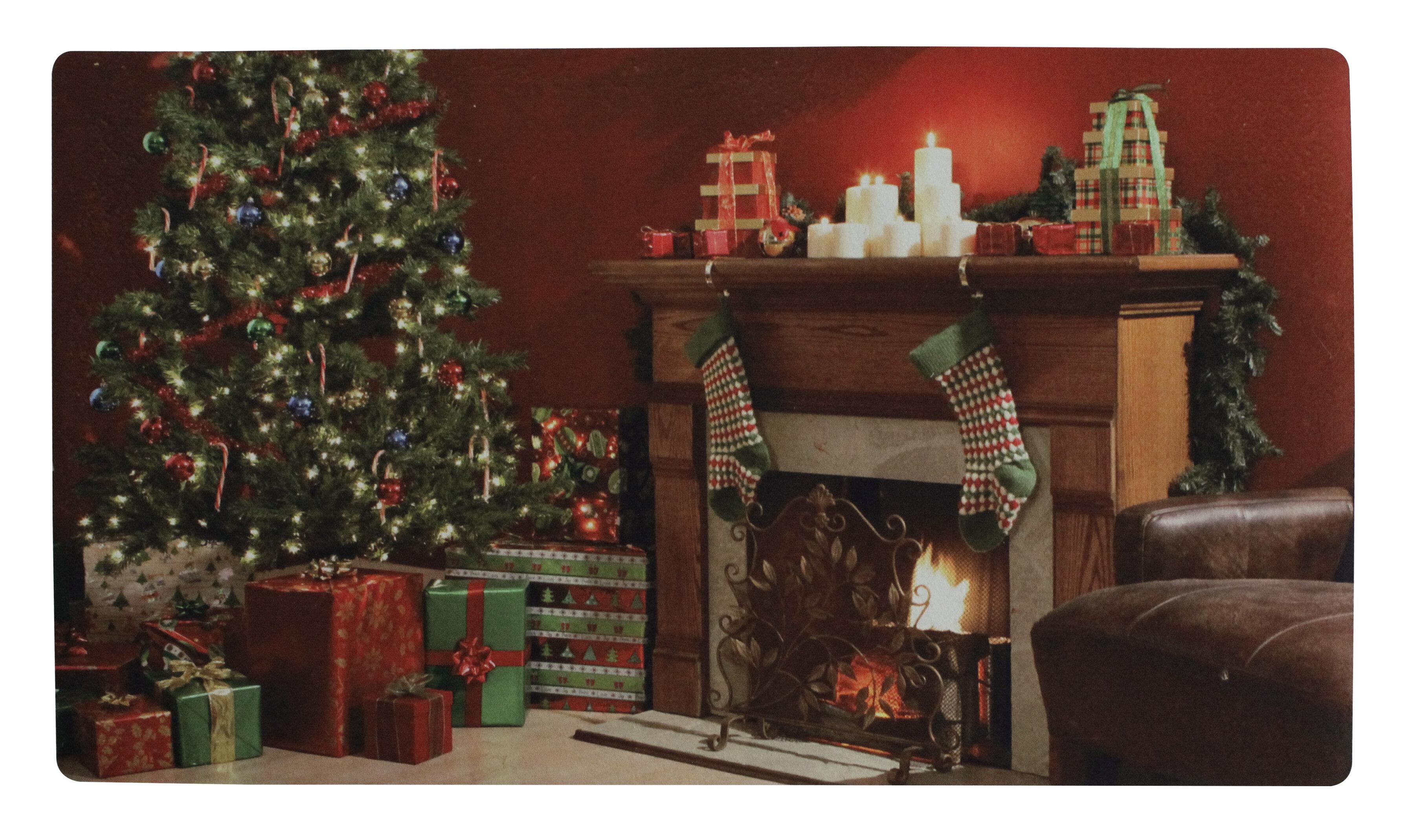 Christmas Scenes Pictures.Christmas Scenes 28 9 In X 17 3 In Non Slip Outdoor Door Mat