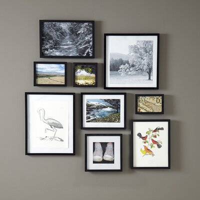 Winston Porter Lecenta Wood Gallery Picture Frame Finish: Black, Size: 2 H x 3 W