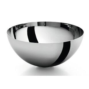WS Bath Collections Acquaio Metal Circular Vessel Bathroom Sink