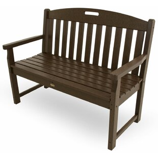 Trex Outdoor Yacht Club Plastic Garden Bench