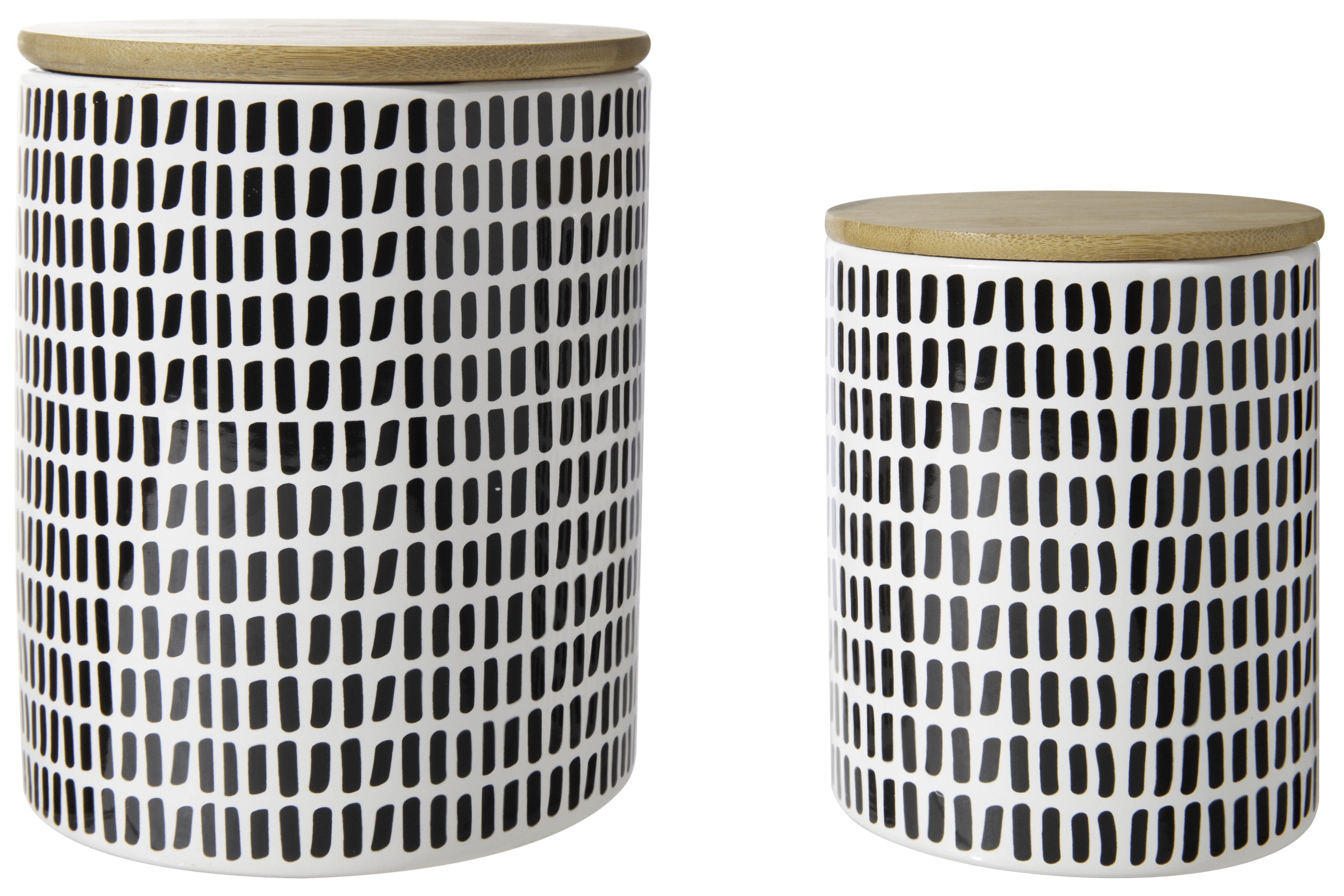 2 Piece Black Kitchen Canisters Jars You Ll Love In 2021 Wayfair