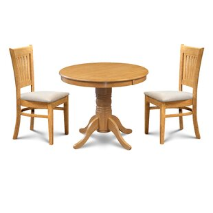 Pedersen 3 Piece Breakfast Nook Dining Set by Loon Peak