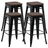 Carntall Solid Wood 26.2'' Counter Stool (Set of 4) by Williston Forge