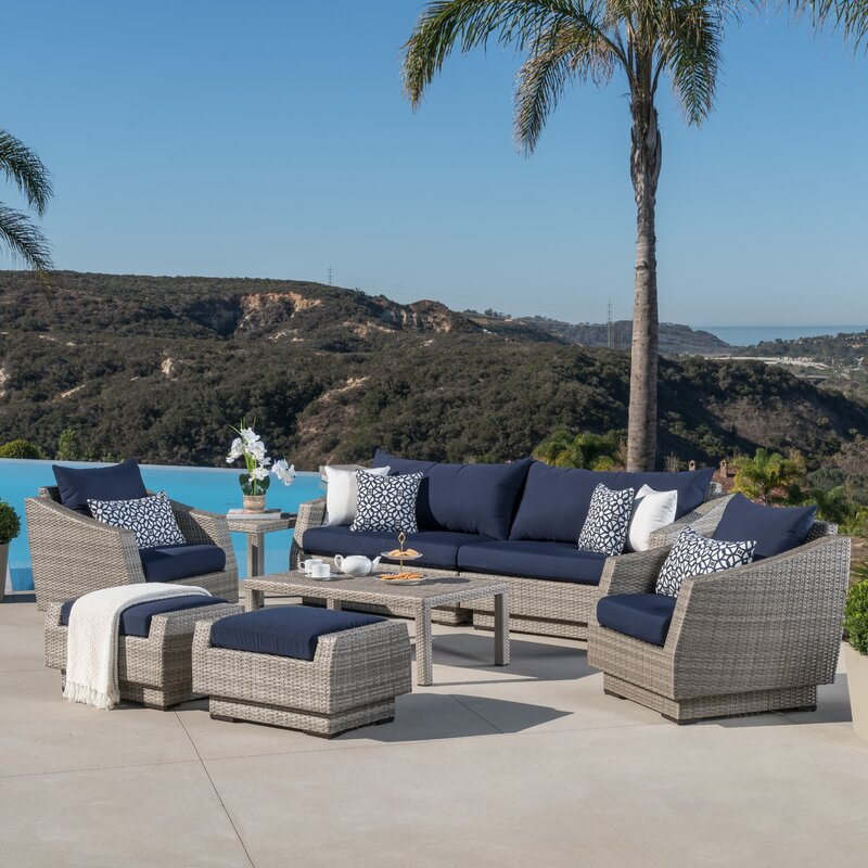 Image of Alfonso 8 Piece Sofa Set with Cushions up to 60% off