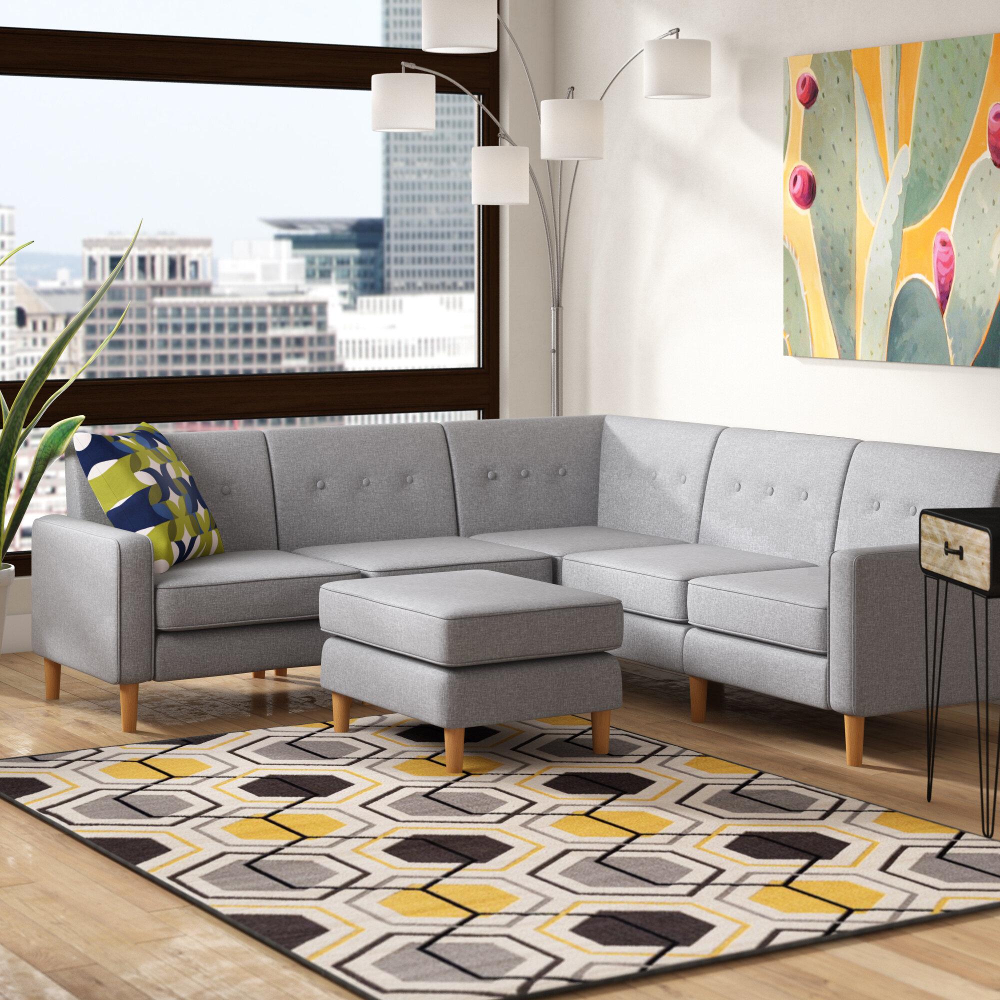 Tremendous Easton Symmetrical In Gordano Modular Sectional With Ottoman Creativecarmelina Interior Chair Design Creativecarmelinacom
