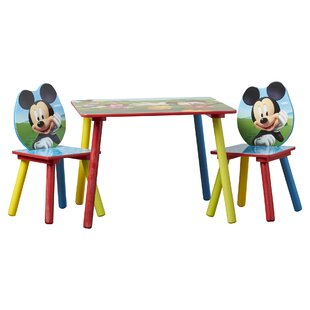 Deals Mickey Mouse Kids 3 Piece Writing Table and Chair Set ByDelta Children