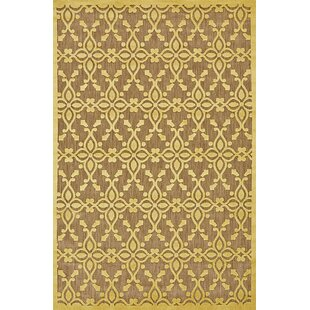 Collinson Tan/Yellow Indoor/Outdoor Area Rug