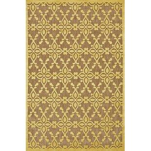 Collinson Tan/Yellow Indoor/Outdoor Area Rug