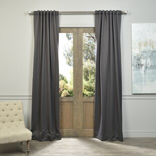 Destinie Indoor Polyester Blackout Curtain Panels (Set Of 2)
