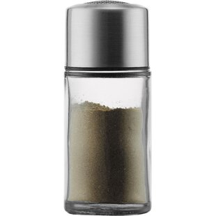 Single Canister Mesh Top Glass Spice Jar