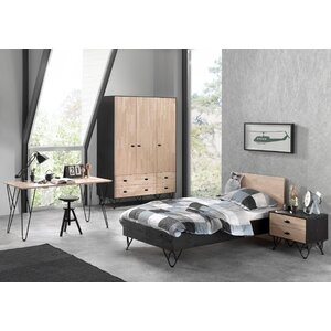 4-tlg. Schlafzimmer-Set William, 90 x 200 cm vo..