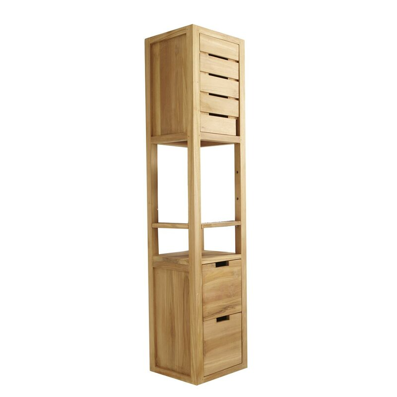 Tikamoon Serena 30 X 150cm Wall Mounted Tall Bathroom Cabinet Wayfair Co Uk