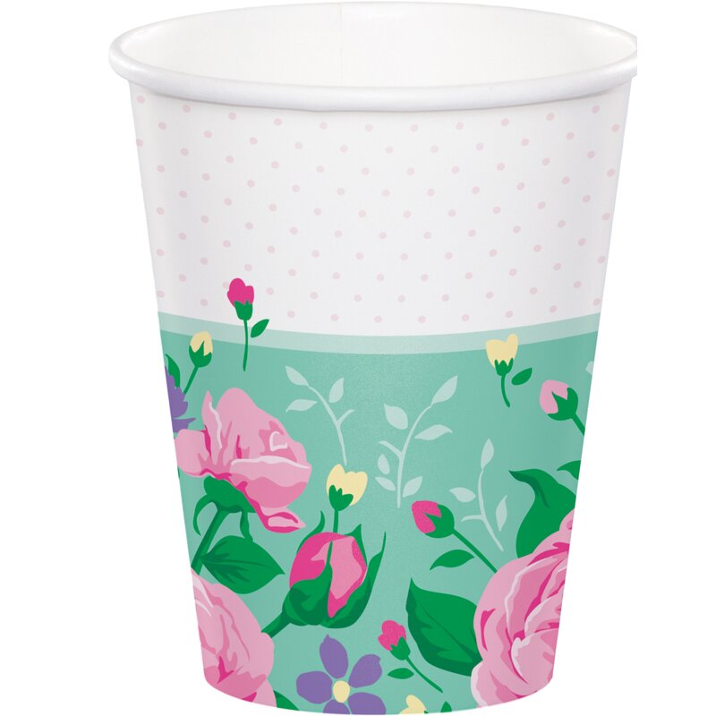 Creative Converting Floral Fairy Paper Disposable Every Day Cup Wayfair