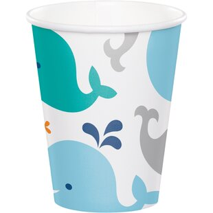 Baby Whale Paper Disposable Cup (Set of 24)