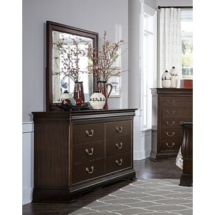 Charlton Home Hebden 6 Drawer Double Dresser with Mirror Image