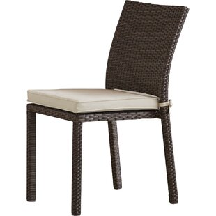 Finola Stacking Patio Dining Chair with Cushion (Set of 4)