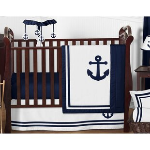 Little Sleepy Head Toddler Pillowcase anchors Away Cuddle Collection White//Blue 13 X 18
