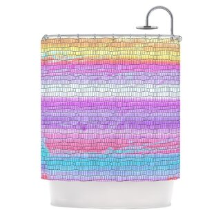 Drip Dye Single Shower Curtain