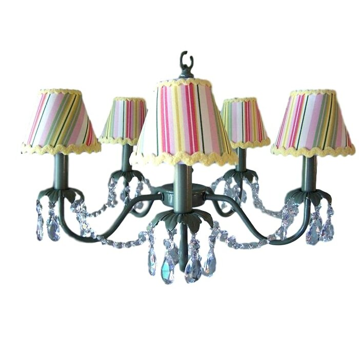 Camillah 5 Light Shaded Chandelier