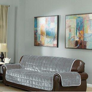 Flannel Box Cushion Sofa Slipcover By Red Barrel Studio