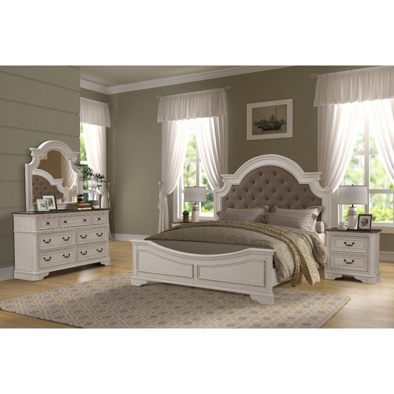 One Allium Way Lilia Upholstered Standard Bedroom Set Reviews Wayfair