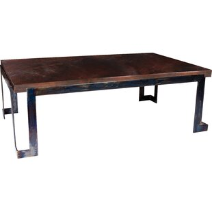 17 Stories Deasia Steel Strap Coffee Table